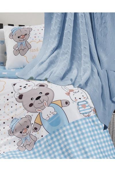 First Choice Bebek Teddy Bear Battaniyeli Nevresim Takımı