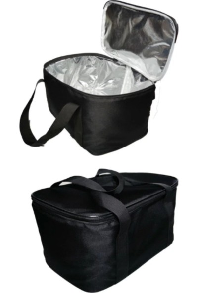 Whitesüs Soğuk Sıcak Tutucu Taşınabilir Termal Buzluk Siyah Çanta 27 lt