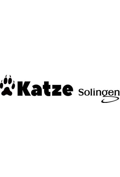 Katze Solingen 1030 6 Inç Pro Düz Çelik Saç Sakal Bıyık Kesim Makası Mavi