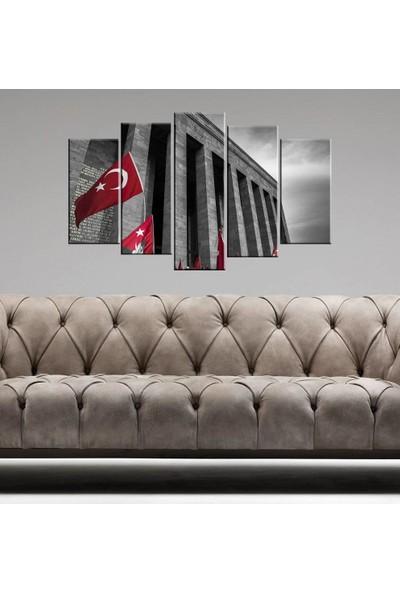 Markapia Home Anıtkabir 5 Parçalı Mdf Tablo