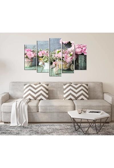Markapia Home Çiçek Temalı 5 Parçalı Mdf Tablo