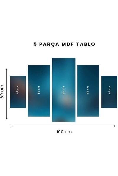Markapia Home Renkli Lale 5 Parçalı Mdf Tablo