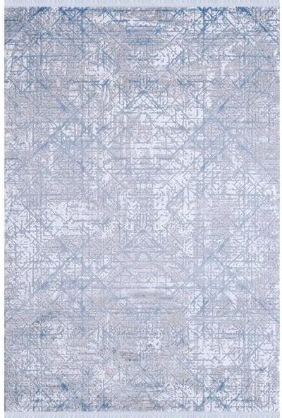 Sevdiz Halı Esa Yolluk 8203M Gri Mavi 80 x 100 cm