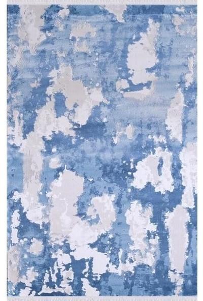 Sevdiz Halı Esa Yolluk 8201M Gri Mavi 150 x 150 cm