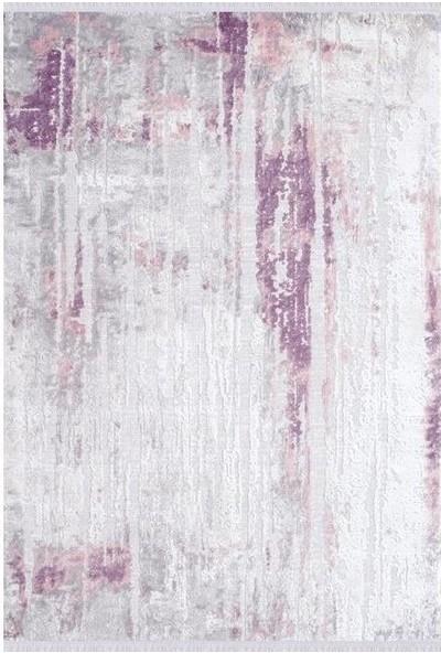 Sevdiz Halı Esa Yolluk 6752A Mürdüm Beyaz 100 x 100 cm