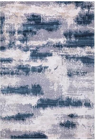 Sevdiz Halı Esa Yolluk Olivya Modern 4476A Mavi 100 x 100 cm