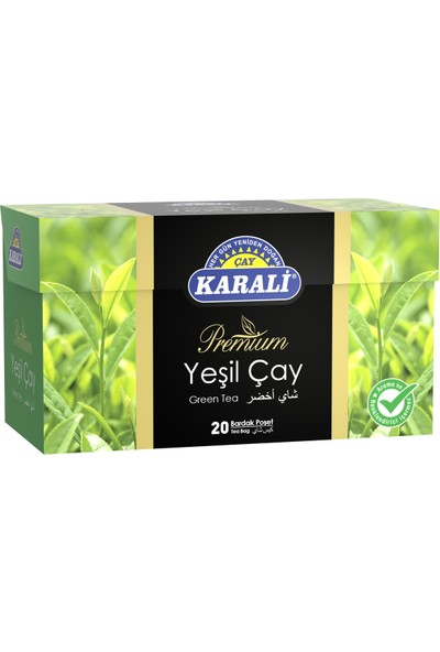 Karali Bardak Poşet Yeşil Çay 20'li
