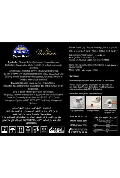 Karali Premium Demlik Poşet Earl Grey 500'lü