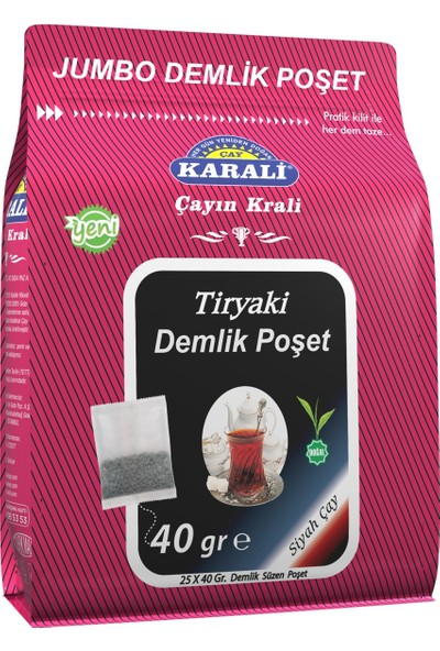 Karali Tiryaki Jumbo Demlik Poşet Çay 25x40 gr
