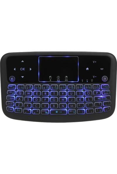 Buyfun A36 Mini Kablosuz Klavye 2.4 GHz 4 Renk Arkadan Aydınlatmalı (Yurt Dışından)