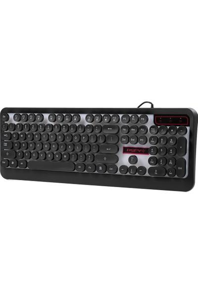 Buyfun USB Kablolu Oyun Klavyesi Steampunk (Yurt Dışından)