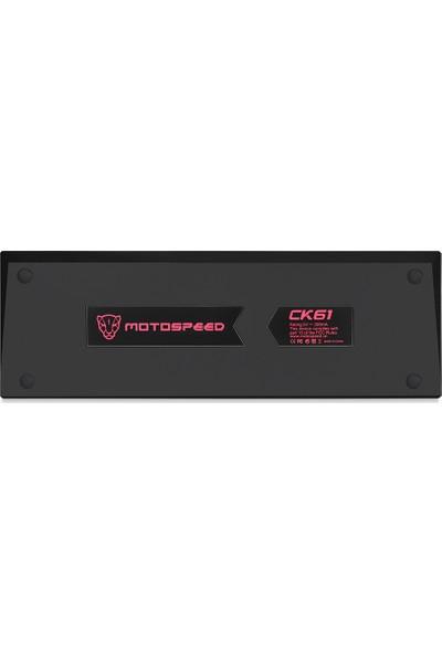 Motospeed CK61 Rgb Mekanik Oyun Klavyesi Outmu Kırmızı (Yurt Dışından)