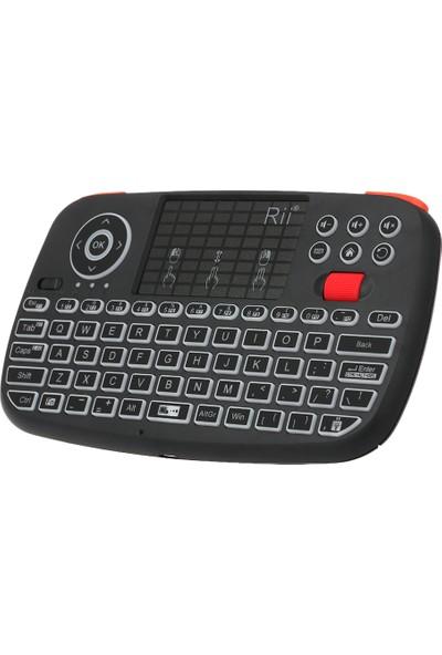 Rii I4 Mini Kablosuz Klavye Bluetooth ve 2.4 GHz Çift (Yurt Dışından)