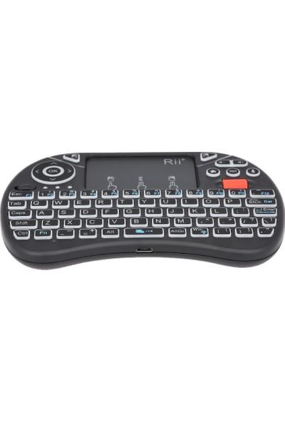 Rii I8X Artı 2.4 GHz Aydınlatmalı Kablosuz Klavye Touchpad (Yurt Dışından)