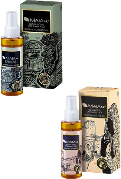 Maia Mc Baobab Özlü Saç Bakım Yağı 120 ml + Argan Özlü Saç Bakım Yağı 120 ml