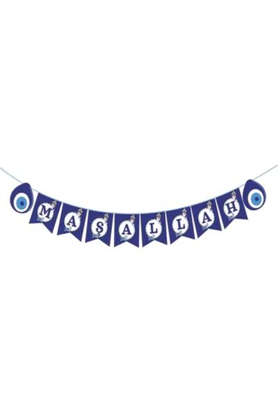 Pembe Mavi Sünnet Maşallah Banner Flama Yazı Süs