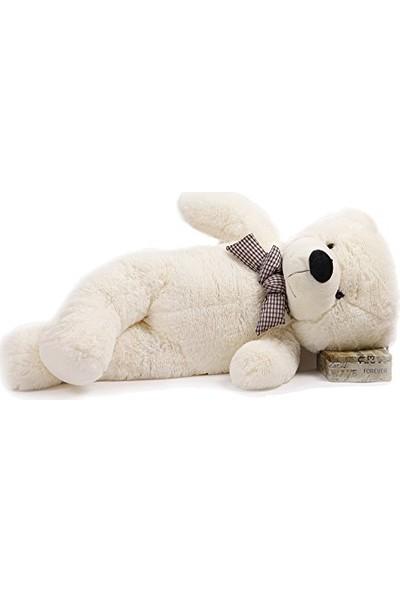 Kuki's Spielzeug Beyaz Sevimli Peluş Ayı