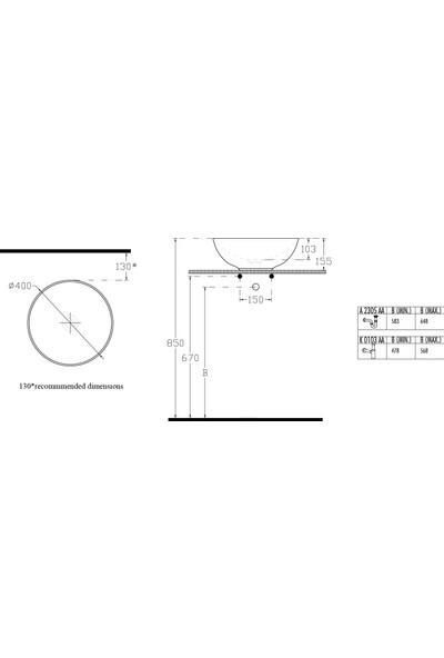 Ideal Standard Stradao Oval Çanak Lavabo 40 cm
