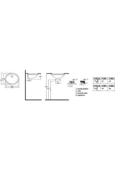 Ideal Standard Stradao Tezgah Altı Lavabo 46 cm