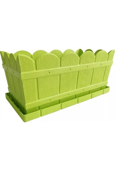 Lider Dikdörtgen Balkon ve Bahçe Saksısı Açık Yeşil