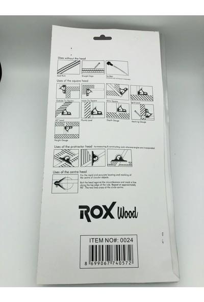 Rox Wood Terazili Ayarlı Gönye