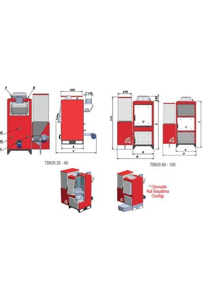 Termodinamik Tbk/S Katı Yakıtlı Otomatik Kalorifer Kazanı - Tbk/S100