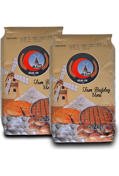 Hilal Un Taş Değirmende Öğütülmüş Tam Buğday Unu 2 kg x 2
