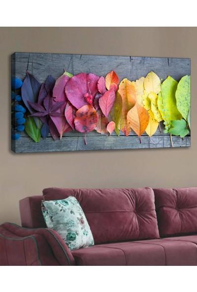 Syronix Renkli Yapraklar Kanvas Tablo 120 x 60 cm