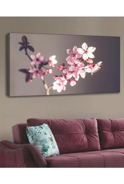 Shop365 Pembe Çiçek Kanvas Tablo 120 x 60 cm