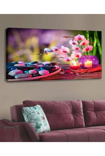 Shop365 Çiçekler Mumlar Kanvas Tablo 120 x 60 cm
