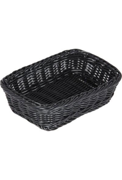 Globy Ekmek Sepeti Dikdörtgen Siyah 25X17X6 cm Globy