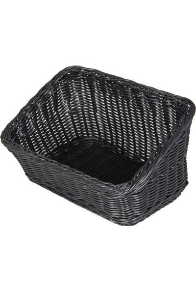 Globy Ekmek Sepeti Dikdörtgen Plastik Siyah 34X24X11/18 cm Globy