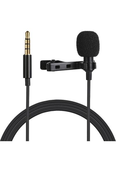 Puluz 3.5 mm Jack Profesyonel Youtuber Yaka Mikrofonu 1.5 M AL-32326