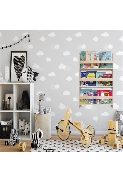 Carotte Hugo 3 Raflı Bebek Çocuk Odası Ahşap Kitaplık