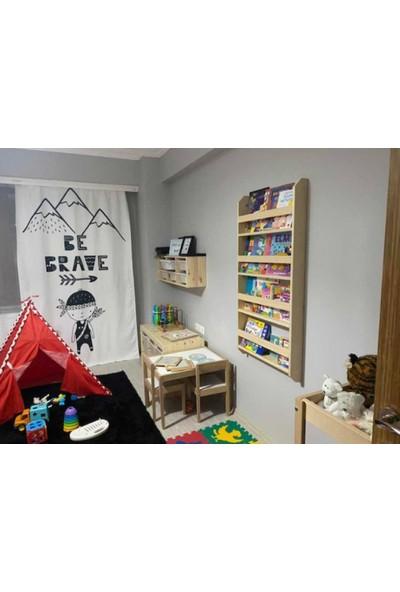 Carotte Hugo 4 Raflı Bebek Çocuk Odası Ahşap Kitaplık