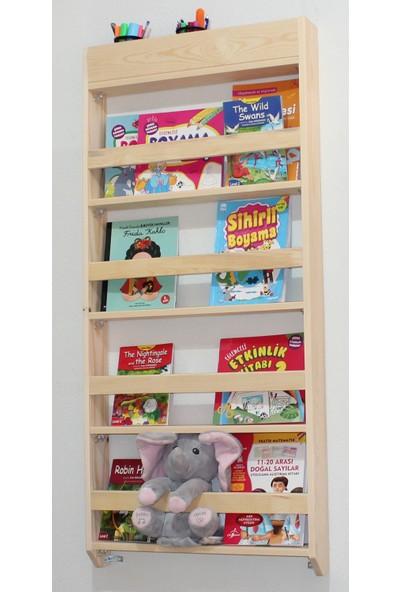 Carotte Hugo 4 Raflı Kalemlikli Çocuk Odası Kitaplık