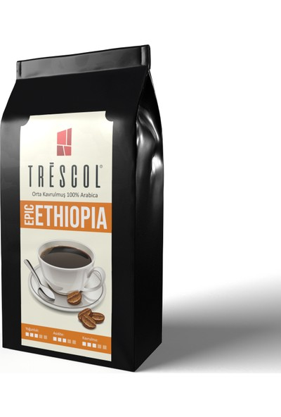 Trescol Ethiopia Moka Pot için Öğütülmüş Kahve 250 gr İnce Moka Pot