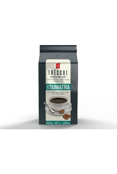 Trescol Sumatra Çekirdek Kahve 250 gr Öğütülmemiş Çekirdek Öğütülmemiş