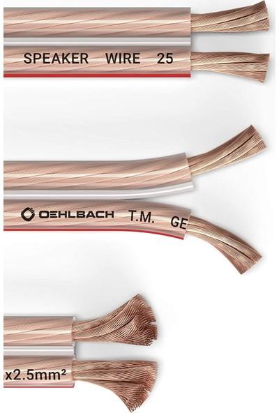 Oehlbach 108 2x2,5mm² Hoparlör Kablosu - 30M