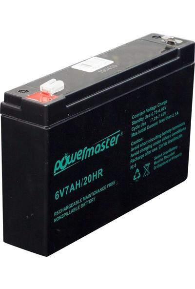 Powermaster 6V 7AH Kuru Akü