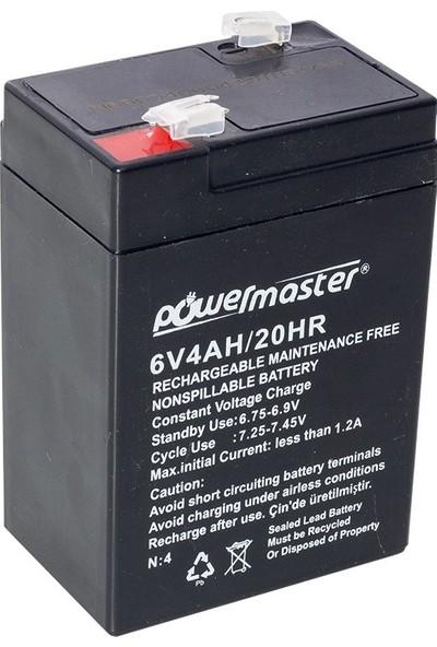 Powermaster 6V-4AH Işıldak Aküsü