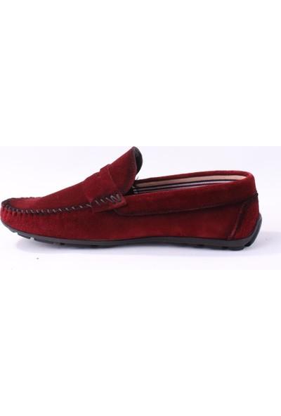 Tekin 020 Günlük Bordo Süet Erkek Deri Ayakkabı