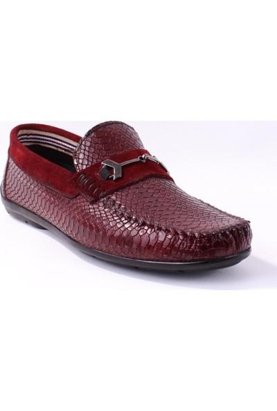 Tekin 056 Günlük Bordo Erkek Deri Ayakkabı