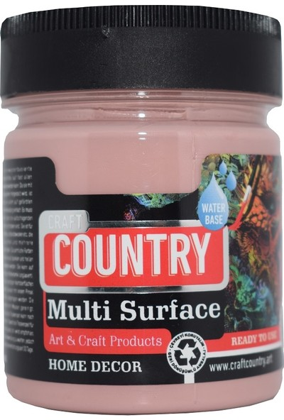 Craft Country Multi Surface Hobi Boyası 1026 Antik Pembe