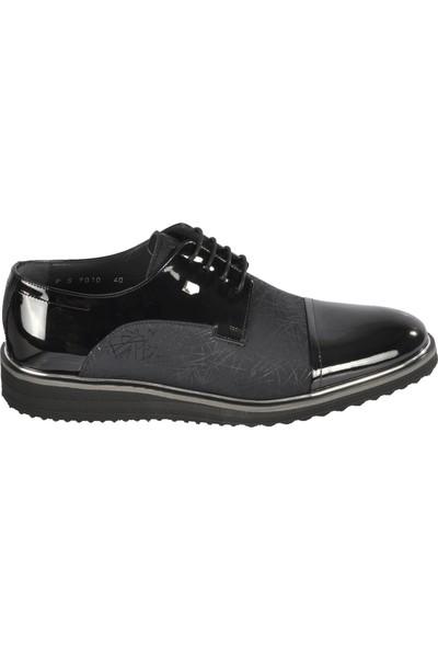 Fosco 9010 Siyah Rugan Erkek Deri Klasik Ayakkabı