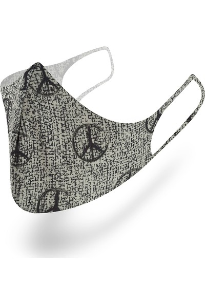 Mutlu Maske Muhteşem 3'lü Black Power Siyah Gri Yıkanabilir Kumaş Maske Unisex