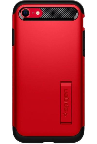 Spigen Apple iPhone SE (2020) / iPhone 8 / iPhone 7 Kılıf Slim Armor Red - ACS01240