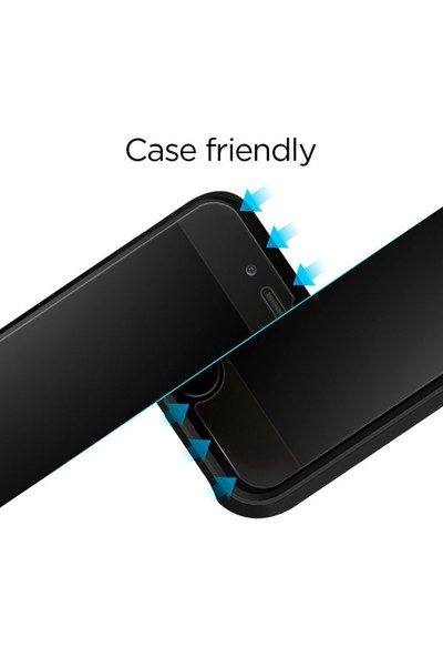 Spigen Apple iPhone SE 2020 / iPhone 8 / iPhone 7 Cam Ekran Koruyucu Kolay Kurulum GLAS.tR EZ Fit Slim HD (2 Adet) - 054GL22382