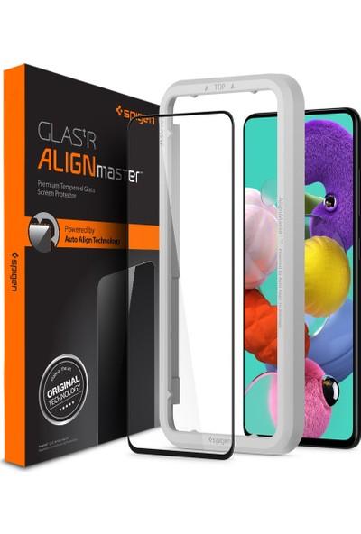 Spigen Samsung Galaxy A51 Cam Ekran Koruyucu Kolay Kurulum AlignMaster Full Cover Black / Siyah - AGL01051