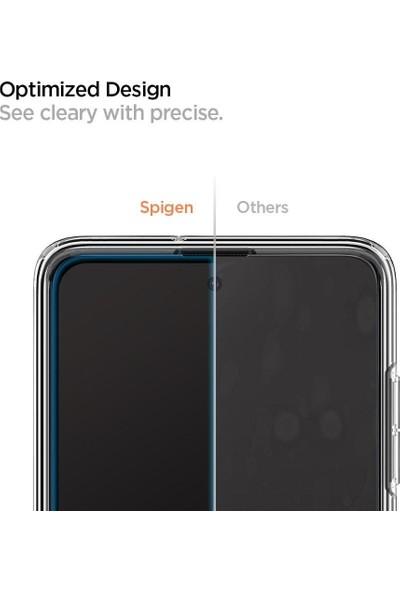Spigen Samsung Galaxy A51 Cam Ekran Koruyucu Tam Kaplayan Full Cover Black - AGL01131